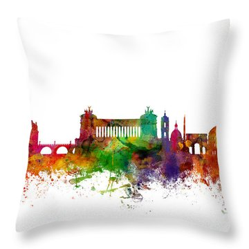 Rome Italy Skyline Throw Pillow