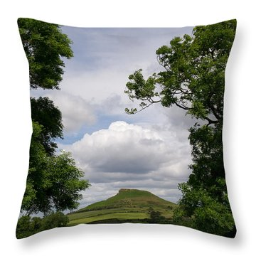 Roseberry Topping Throw Pillow by Gary Eason