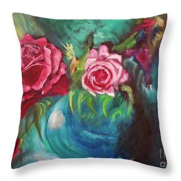 Roses One Of A Kind Handmade Throw Pillow
