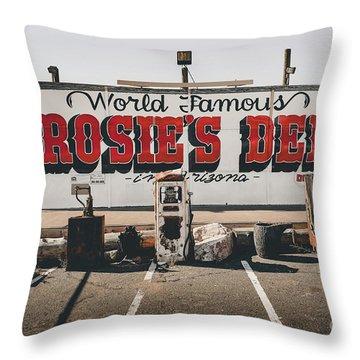 Rosies Den Cafe  Throw Pillow