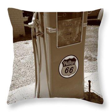 Route 66 Gas Pump Throw Pillow