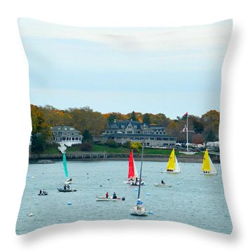 Throw Pillow featuring the photograph Sailing by Raymond Earley
