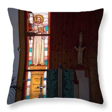 San Bernardo Abad Throw Pillow