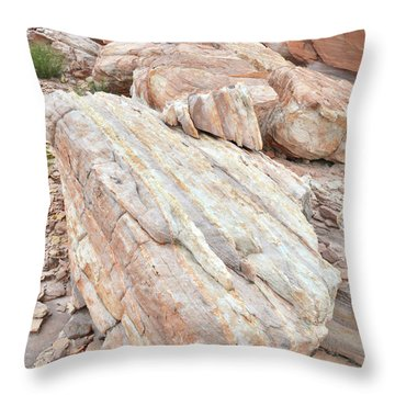 Throw Pillow featuring the photograph Sandstone Slope In Valley Of Fire by Ray Mathis