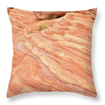 Throw Pillow featuring the photograph Sandstone Swirls In Valley Of Fire by Ray Mathis