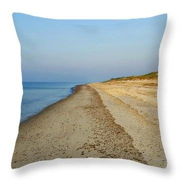 Sandy Neck Beach Throw Pillow
