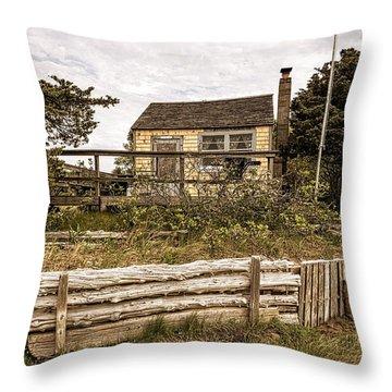 Sandy Neck Dune Shack Throw Pillow