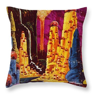 Science Fiction Magazine Throw Pillow by Granger