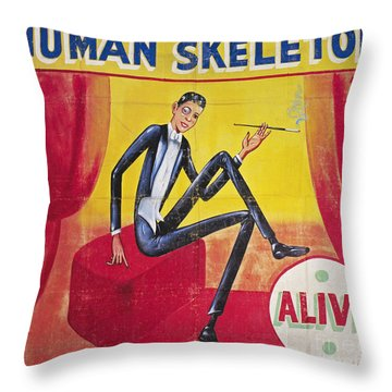 Sideshow Poster, C1965 Throw Pillow by Granger