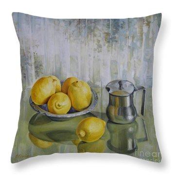 Silence Throw Pillow by Elena Oleniuc
