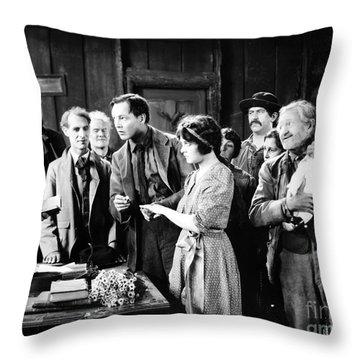Silent Film Still: Wedding Throw Pillow by Granger