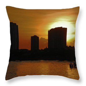 Throw Pillow featuring the photograph 2- Singer Island by Joseph Keane