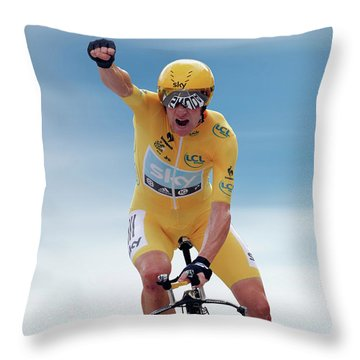 Sir Bradley Wiggins 3 Throw Pillow