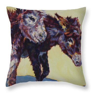 2 Sisters Throw Pillow