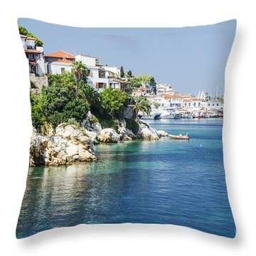 Skiathos Island, Greece Throw Pillow