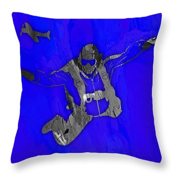 Skydiving Collection Throw Pillow