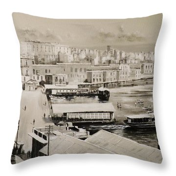 Sliema Ferries  1940 Throw Pillow