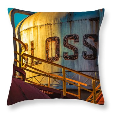 Sloss Furnaces Throw Pillow by Phillip Burrow