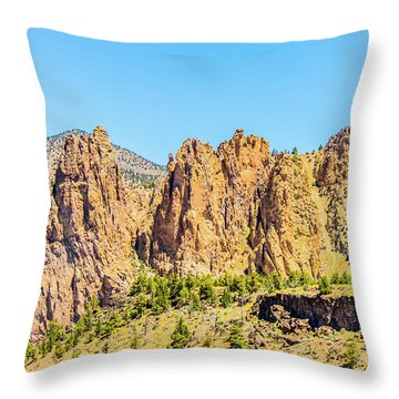 Throw Pillow featuring the photograph Smith Rock by Jonny D