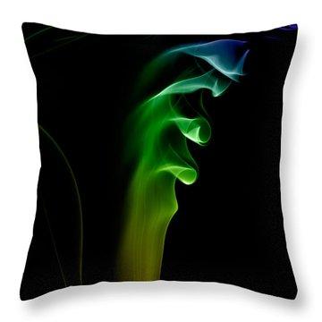 smoke XXVI Throw Pillow