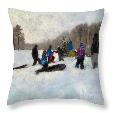 Snow Day Throw Pillow by Claire Bull