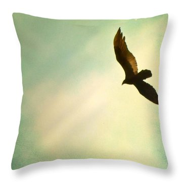 Soaring Throw Pillow by Amy Tyler