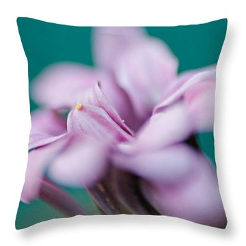 Throw Pillow featuring the photograph Soft Pink by Michaela Preston