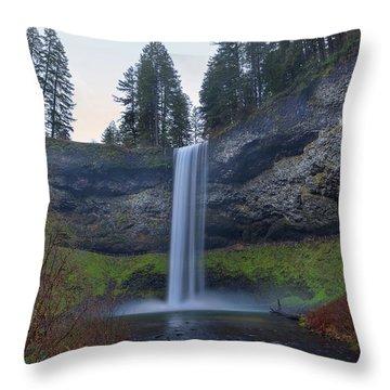 South Falls At Silver Falls State Park Throw Pillow
