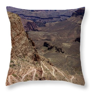 South Kaibab Trail Throw Pillow