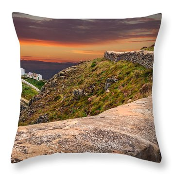 South Stack Lighthouse Throw Pillows