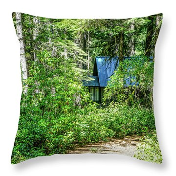 Sparsely Peppering The Landscape Throw Pillow