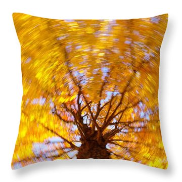 Spinning Maple Throw Pillow