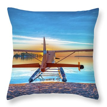 Splash-in Sunrise Throw Pillow