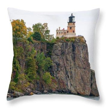 Split Rock Lighthouse Throw Pillow by Steve Stuller