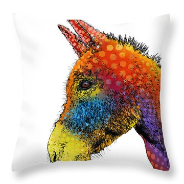 Spotted Donkey Throw Pillow