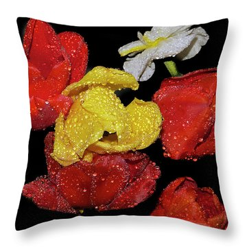 Throw Pillow featuring the photograph Spring Flower by Elvira Ladocki