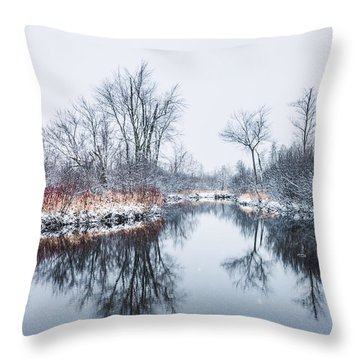 Spring Snow Throw Pillow