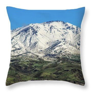 Squaw Butte Throw Pillow by Robert Bales