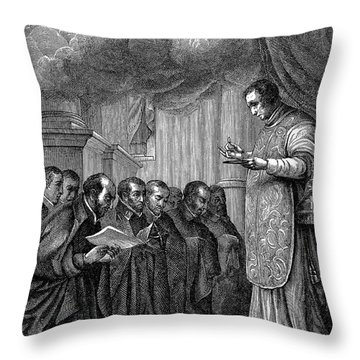 St. Ignatius Loyola Throw Pillow by Granger