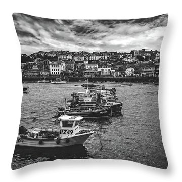 St Ives Harbor Throw Pillow