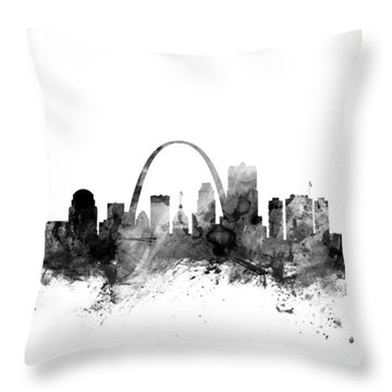 St Louis Missouri Skyline Throw Pillow