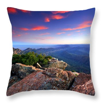 St Mary Peak Sunrise Throw Pillow by Bill  Robinson