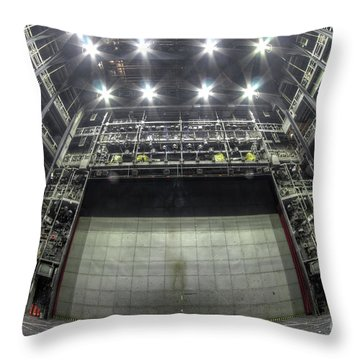Throw Pillow featuring the photograph Stage In The Abandoned Theatre by Michal Boubin