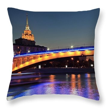 Moscow River Throw Pillow
