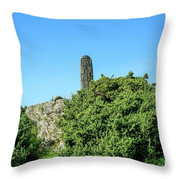 Stands Outside Throw Pillow
