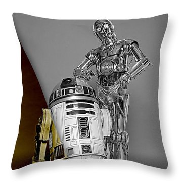 Star Wars C3po And R2d2 Collection Throw Pillow