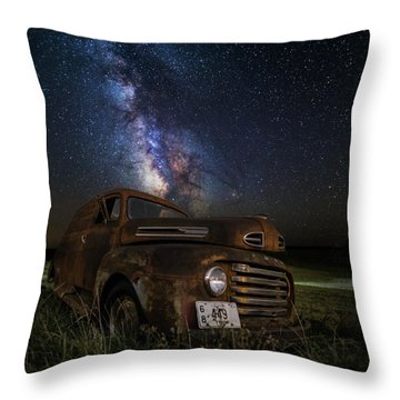 Stardust And Rust Throw Pillow by Aaron J Groen