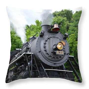 Steam Engline Number 630 Throw Pillow