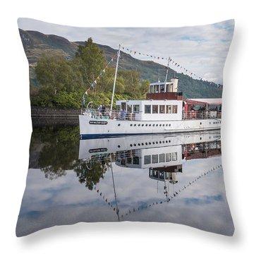 Steamship Sir Walter Scott On Loch Katrine Throw Pillow