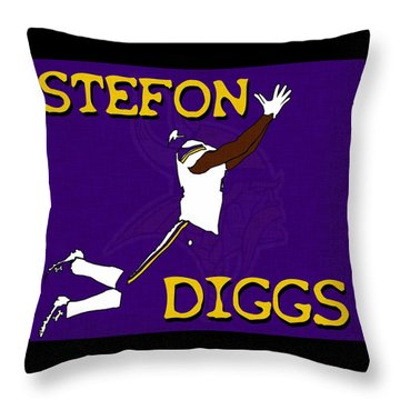 Stefon Diggs Throw Pillow